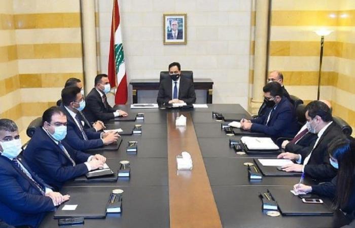 دياب استقبل وزير الصحة العراقي