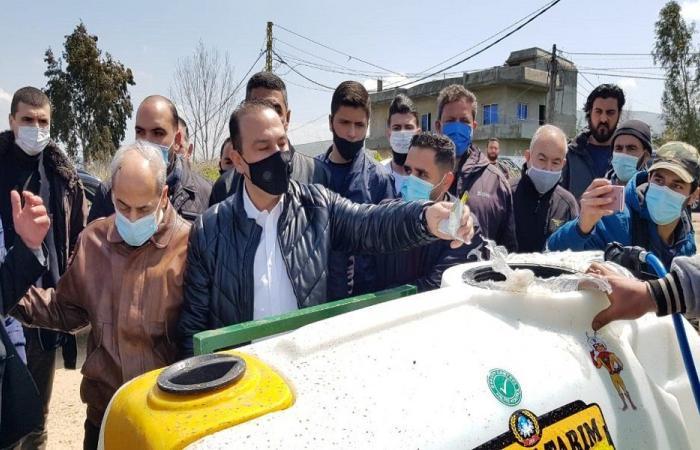 مرتضى أطلق ورش رش المبيدات في وادي خالد وعكار