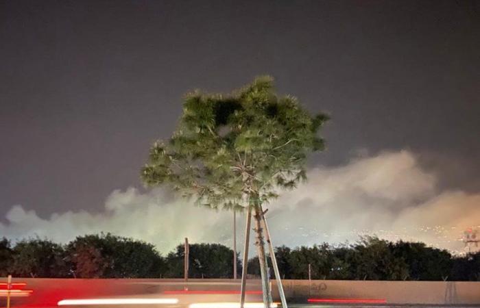 حريق في المريجة… والدخان يغطي المطار!