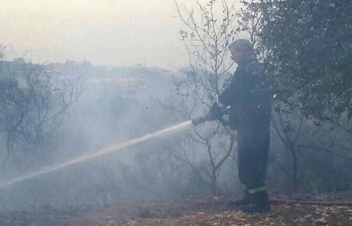 إخماد حريق في خراج الكفير قضاء حاصبيا
