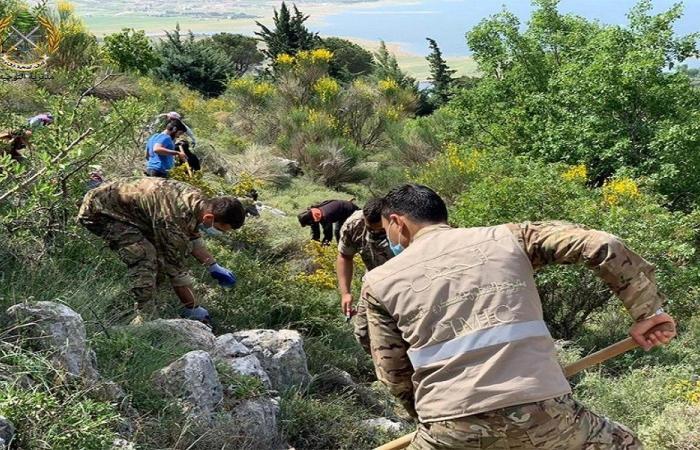 الجيش شارك في حملة تنظيف غابة صغبين