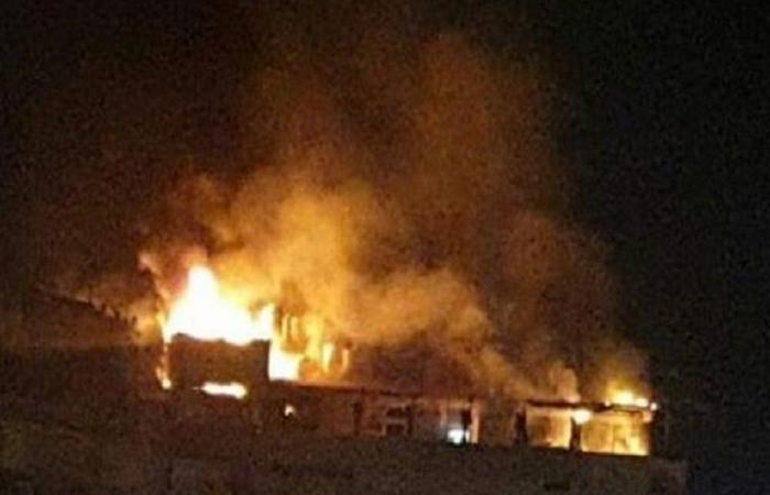 حريق في مبنى سكني في منطقة سليم سلام (فيديو)