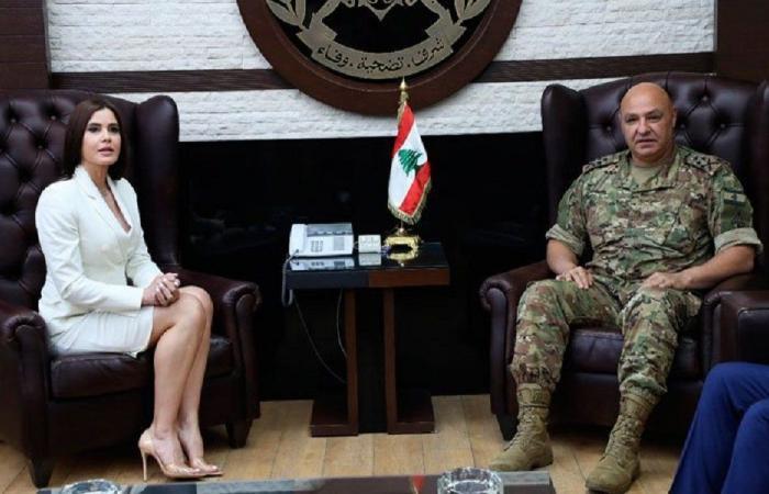 ستريدا جعجع زارت قائد الجيش: للحفاظ على المؤسسة العسكرية