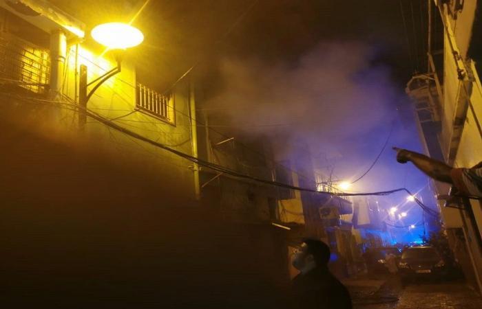 حريق ضخم داخل شقة في الأشرفية (فيديو)