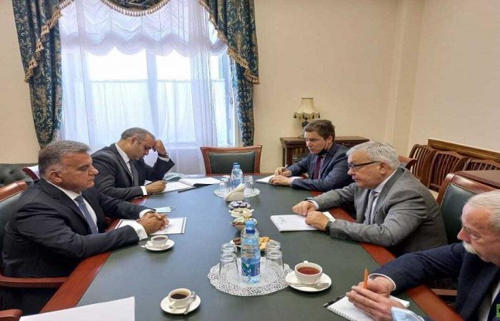 الوضع في لبنان بين ابراهيم ومسؤولين روس في موسكو