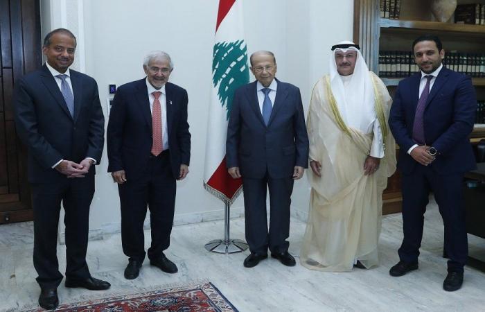 عون شكر الكويت على مساعداتها بعد انفجار المرفأ
