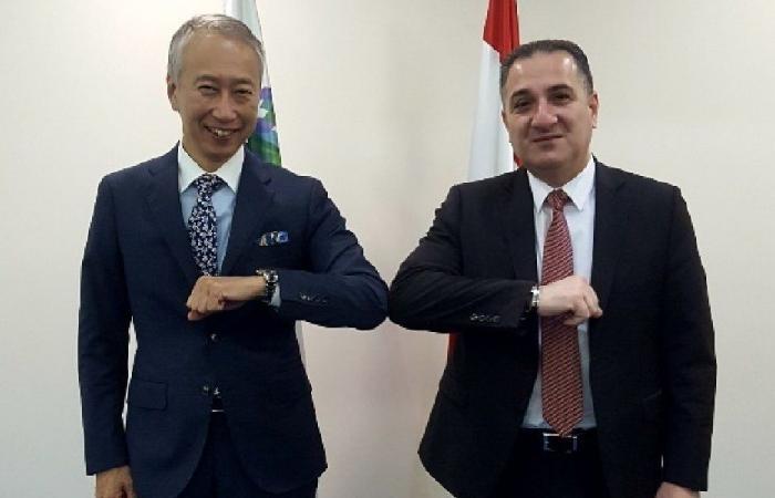 عدد من المشاريع بين حواط وسفير اليابان