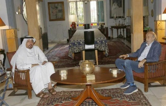 السفير القطري زار جنبلاط مودعًا