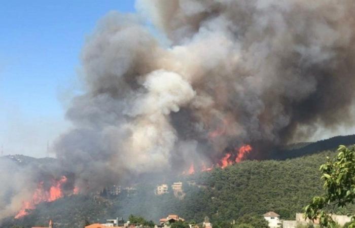 بالصور: حريق القبيات – الهرمل مستمر