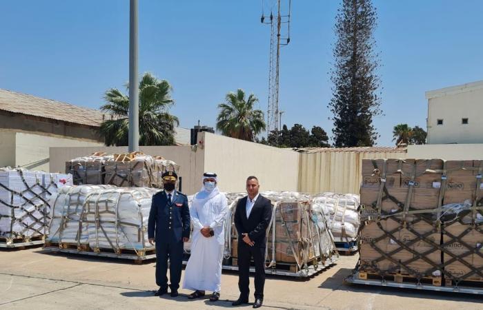 وصول شحنة من المساعدات الغذائية القطرية إلى الجيش