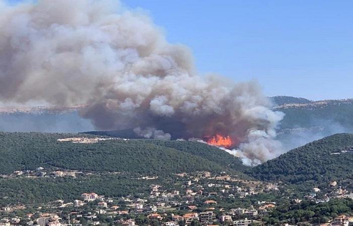 تقرير عن مجريات الحرائق في عكار