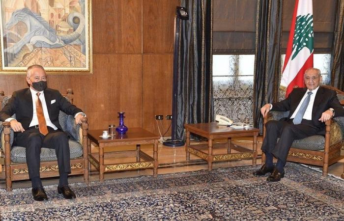 الأوضاع العامة بين بري والسفير الياباني