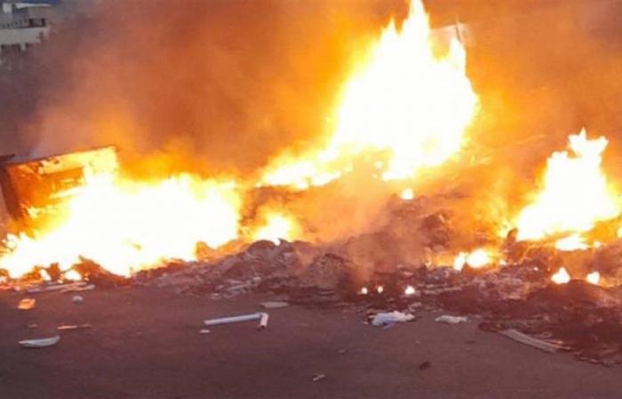 إخماد حريق في محيط تل عرقة الاثري
