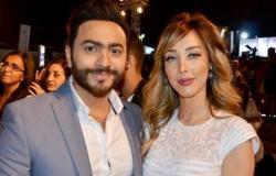 خدود وشفتا زوجة تامر حسني تشعلان المواقع.. ما الغريب فيهما؟