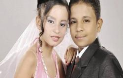 بعد 6 سنوات خطوبة.. زواج أصغر عروسين في مصر (بالصور)