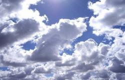 طقس قليل الغيوم مع ارتفاع اضافي بالحرارة