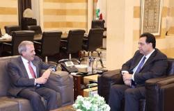 دياب عرض للعلاقات اللبنانية الاميركية مع السفير عيسى