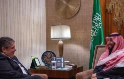 السعودية   ولي العهد السعودي يلتقي وزير الخارجية الألماني السابق