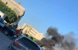 شاهد.. قطع طرق واحتجاجات بطرابلس الليبية ضد الوفاق