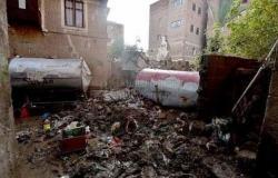 اليمن | ضمن التراث العالمي.. صور لانهيار منزل البردوني في صنعاء