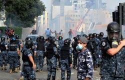 قتيل وأكثر من 70 جريحًا لقوى الأمن خلال تظاهرات بيروت